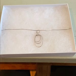 Silver Hoops pendant on silver chain